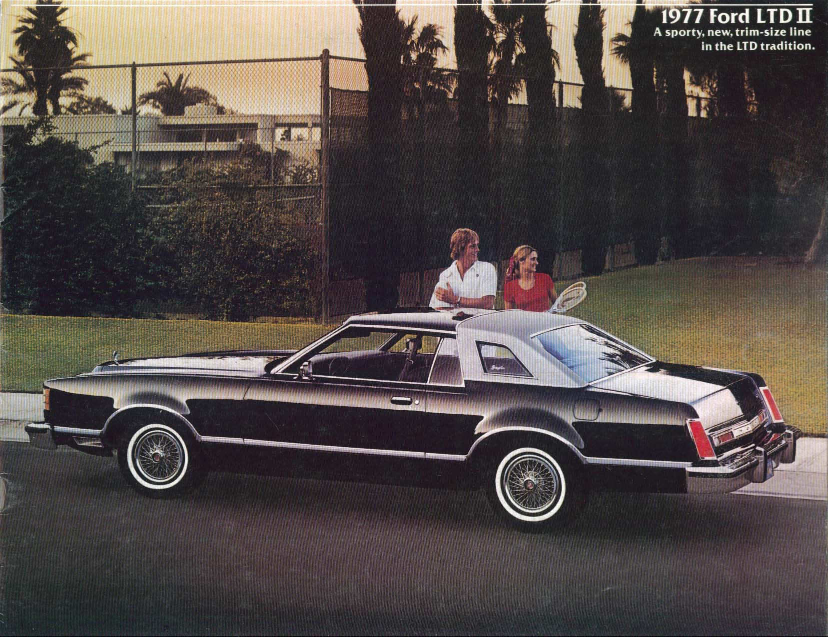 Image for 1977 Ford LTD II sales brochure sporty new trim-size line