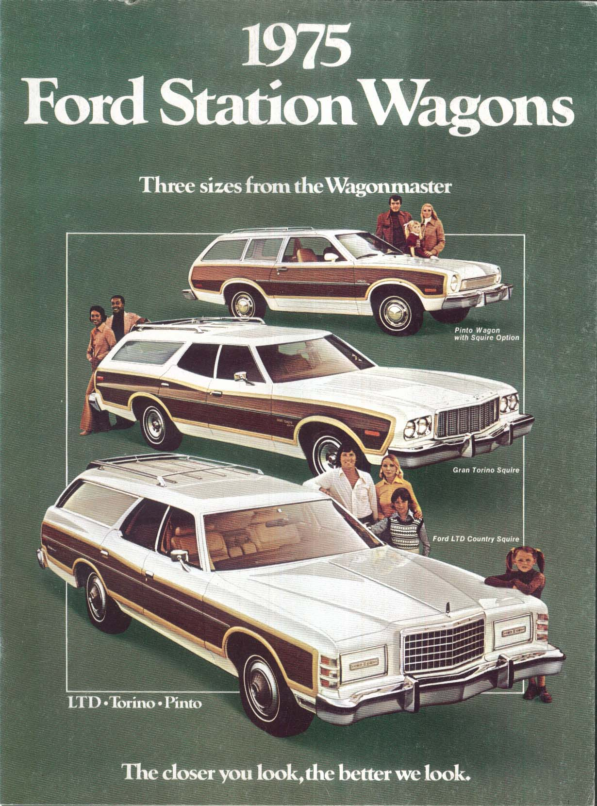 Image for 1975 Ford Station Wagons sales brochure: LTD Torino Pinto