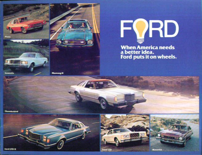 Image for 1977 Ford full-line catalog Mustang Thunderbird LTD +
