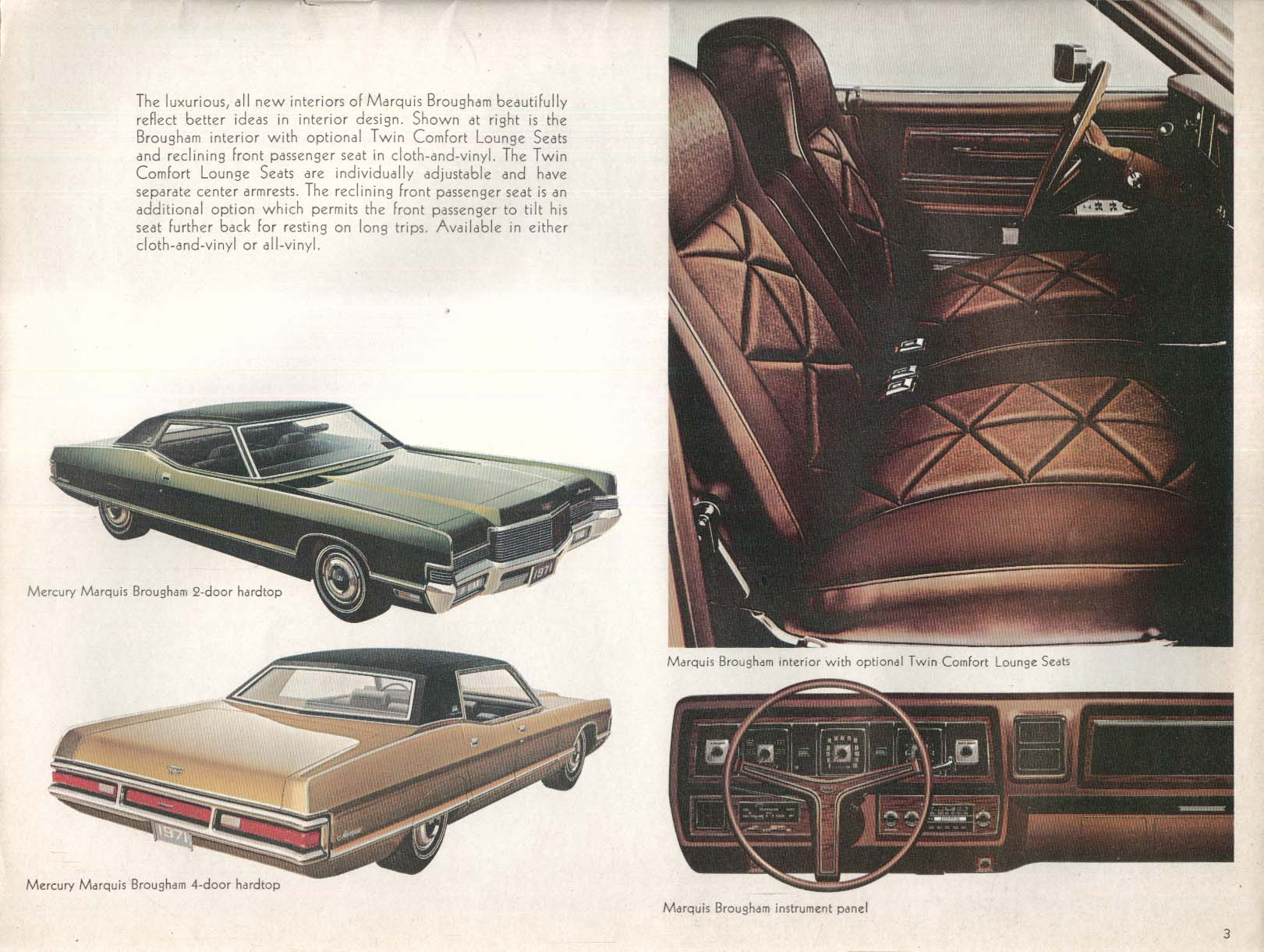 1971 Mercury full-line catalog: Marquis Monterey Montego Cyclone Cougar Comet
