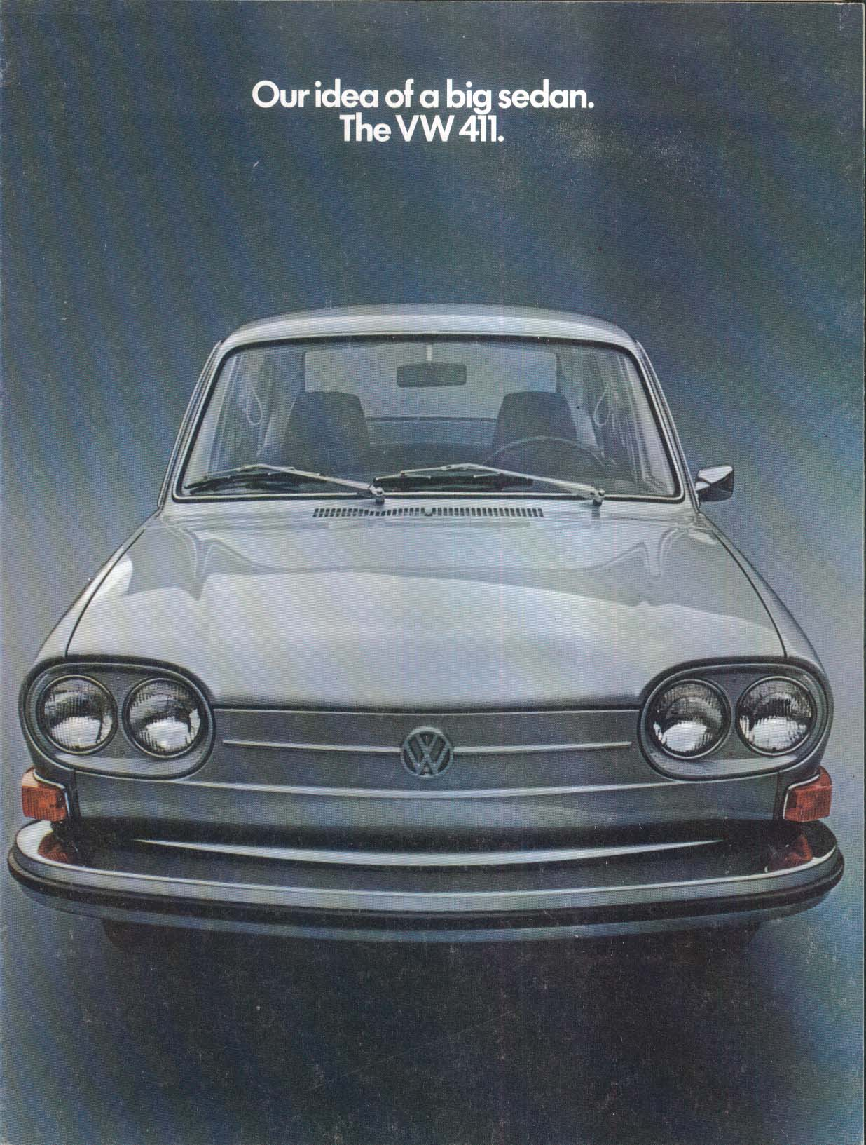 1970 Volkswagen 411 Sedan sales brochure