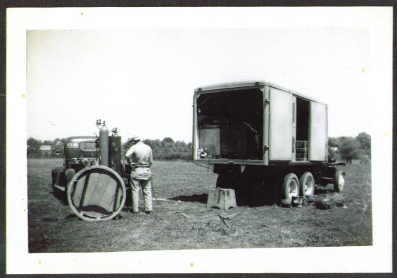 Mech Dept Truck Biller Bros circus photo Talladega 1949