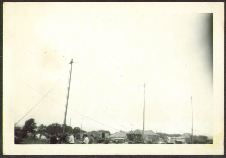 Big Top Poles Up Wallace Bros Circus Rutland VT 1948