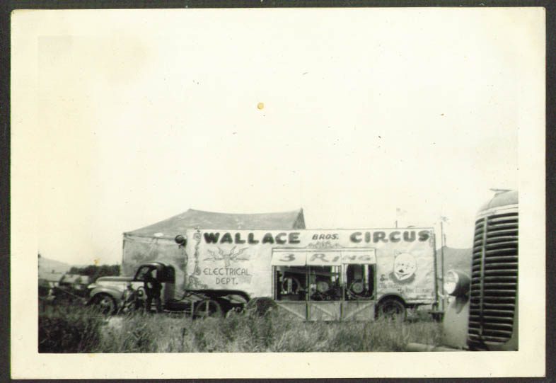 Image for Electrical Truck Wallace Bros Circus Rutland VT 1948