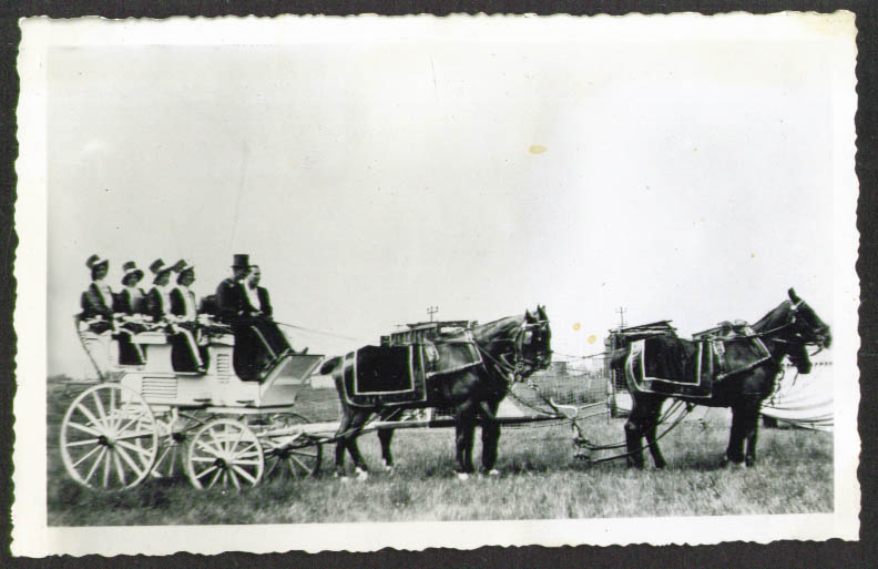Image for 4-horse Showgirl wagon Cole Bros Circus photo 1935