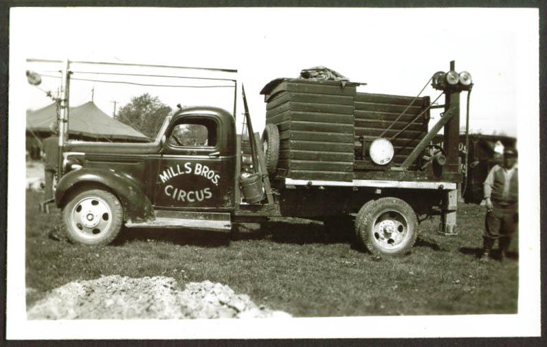 Rigging Truck #55 Mills Bros Circus Frankfort IN 1948