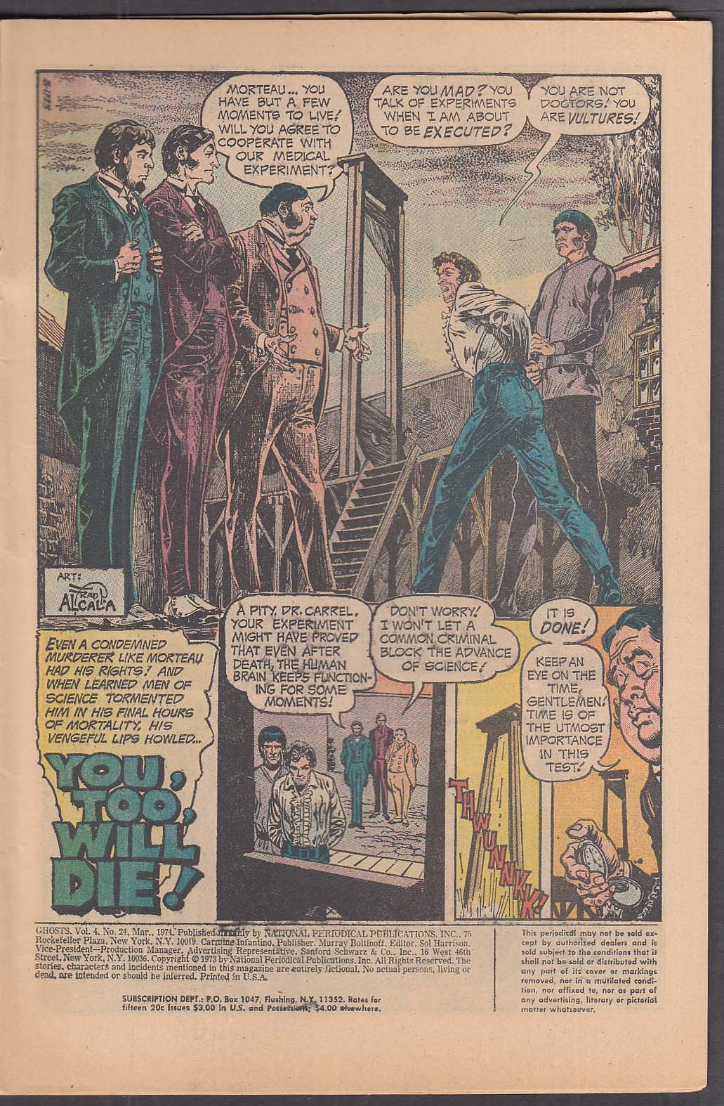 Image for GHOSTS #24 DC comic book 3 1974 True Tales of the Weird & Supernatural