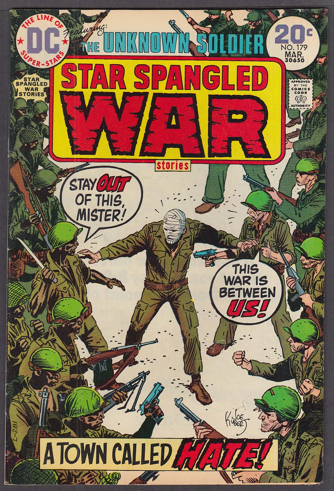 STAR SPANGLED WAR STORIES #179 Unknown Soldier DC comic book 3/1974
