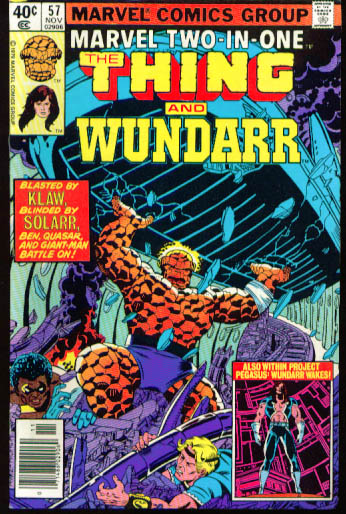 Image for MARVEL TWO-IN-ONE #57 The Thing & Wundarr comic book 11 1979