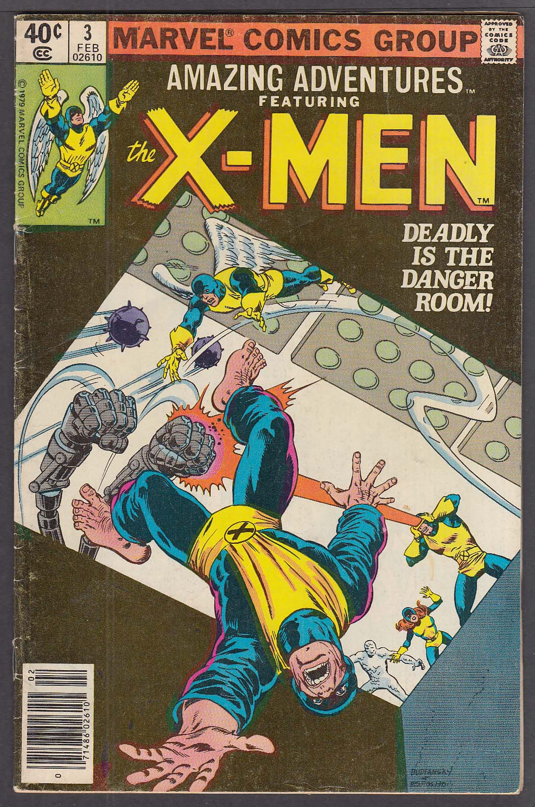 AMAZING ADVENTURES Vol 2 #3 featuring the X-MEN Marvel comic book 2/1980