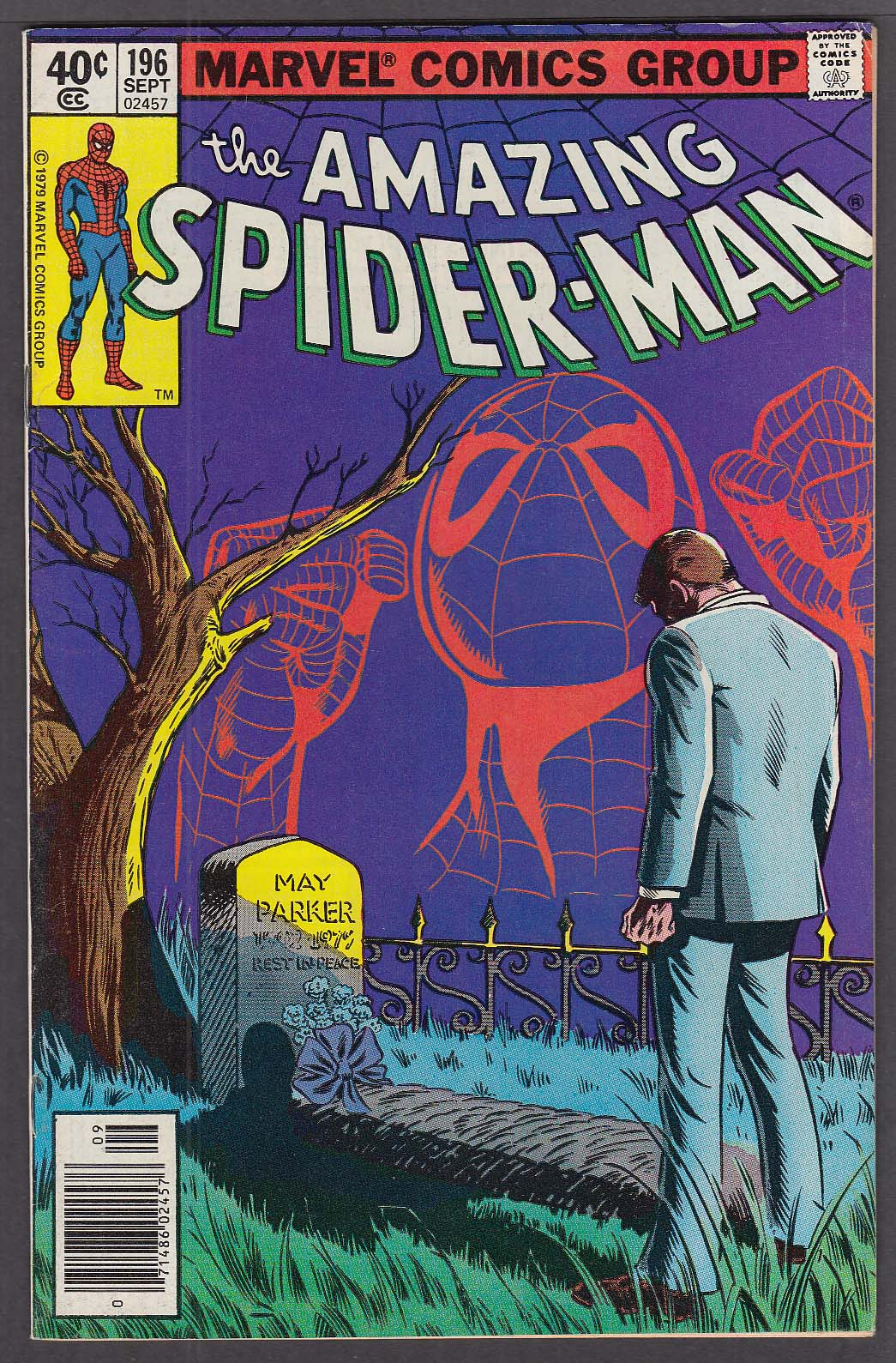AMAZING SPIDER-MAN #196 Marvel comic book 9 1979