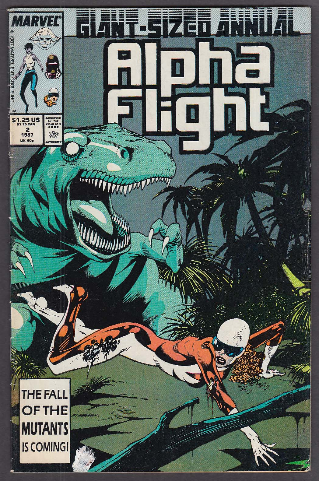 ALPHA FLIGHT ANNUAL #2 Marvel comic book 1987