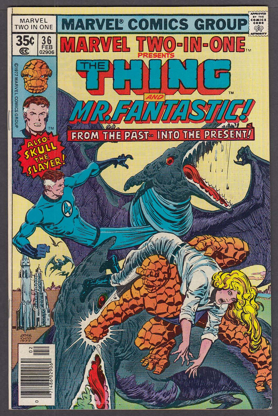MARVEL TWO-IN-ONE #36 The Thing Mr Fantastic comic book 2 1978