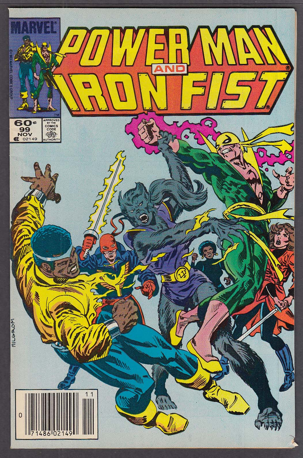 POWER MAN & IRON FIST #99 Marvel comic book 11 1983