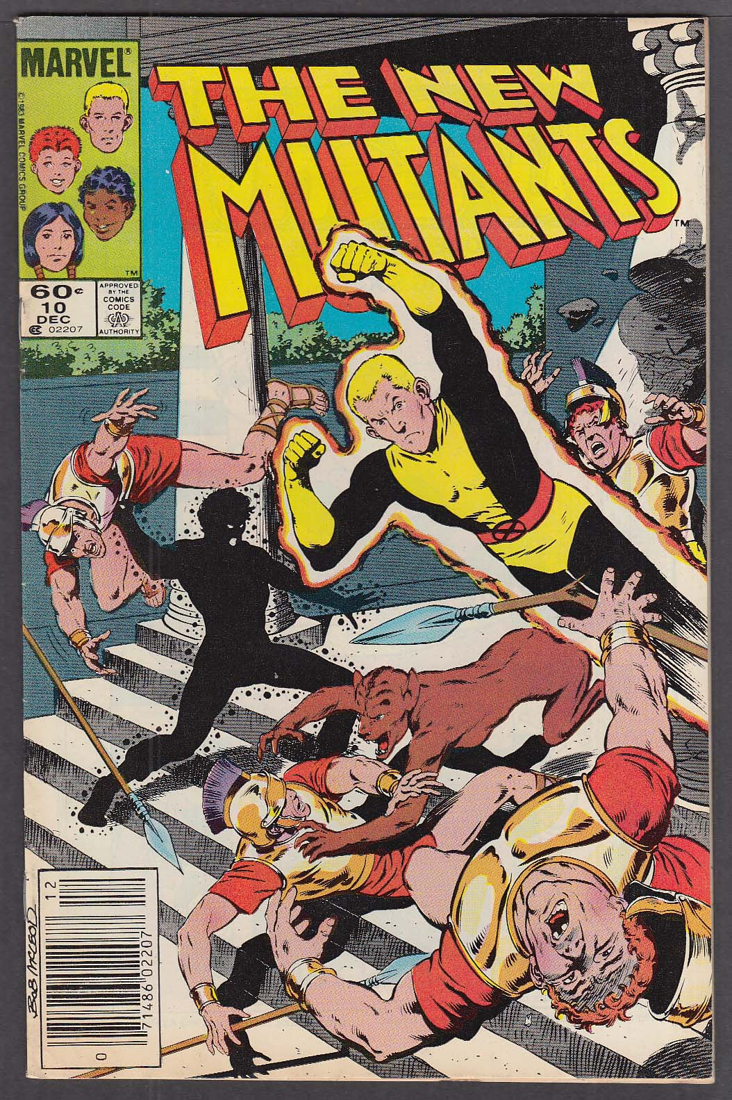 The NEW MUTANTS #10 Marvel comic book 12 1983