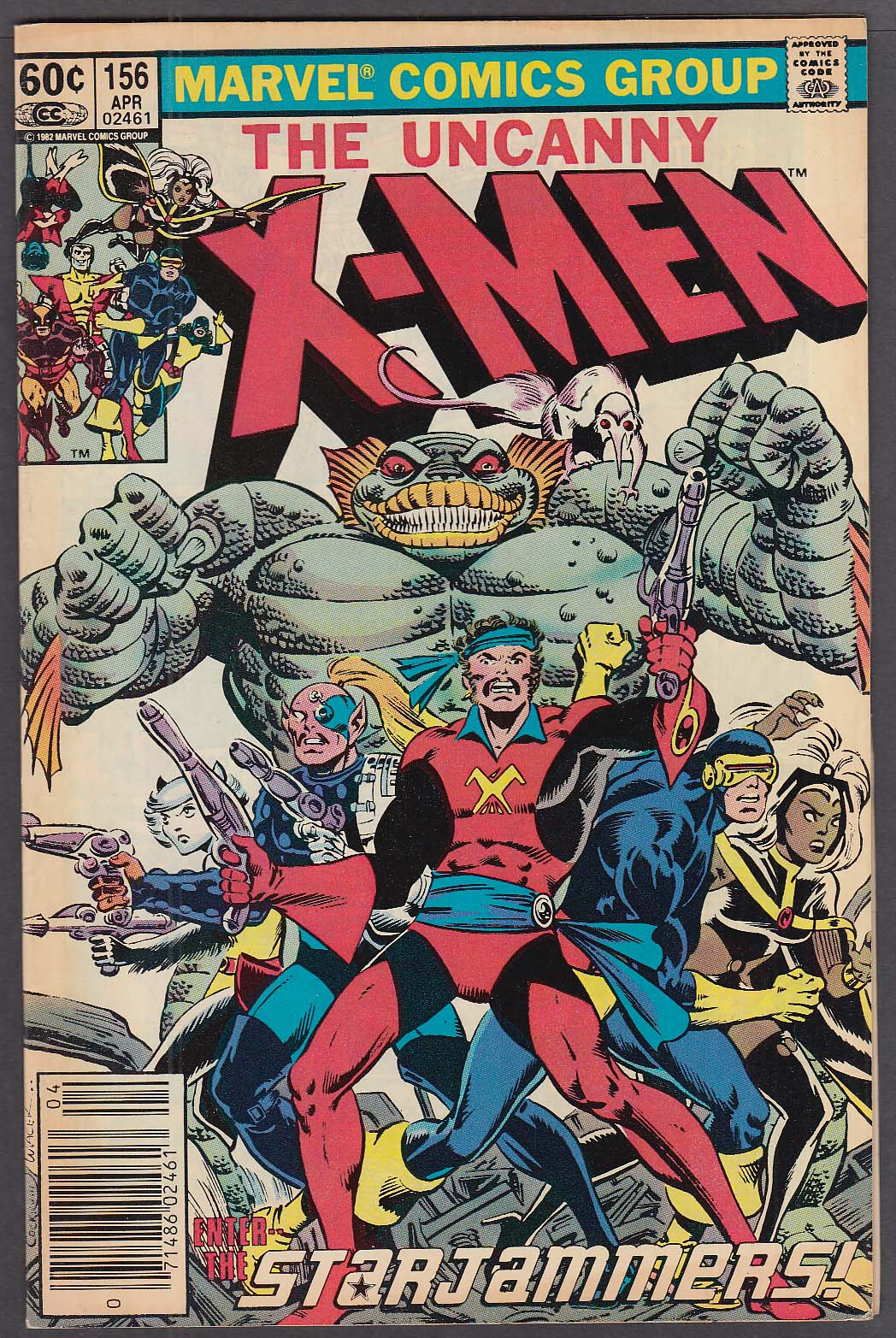 UNCANNY X-MEN #156 Marvel comic book 4 1982