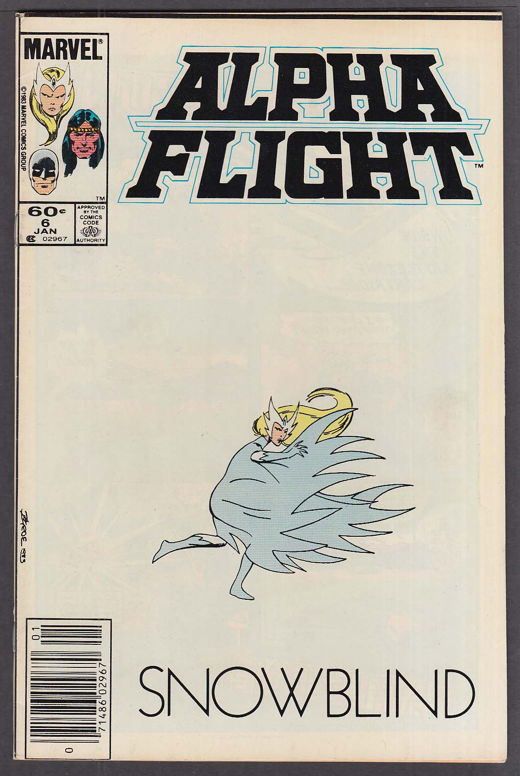 ALPHA FLIGHT #6 Marvel comic book 1 1984