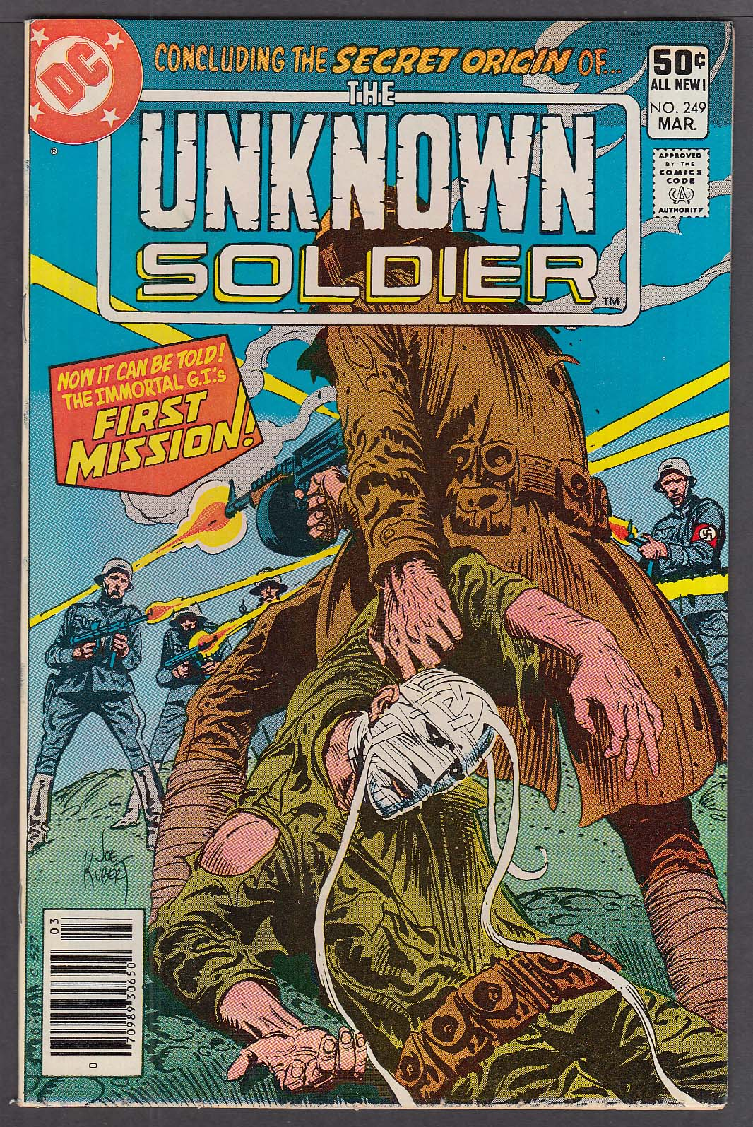 Image for UNKNOWN SOLDIER #249 DC comic book 3/1981