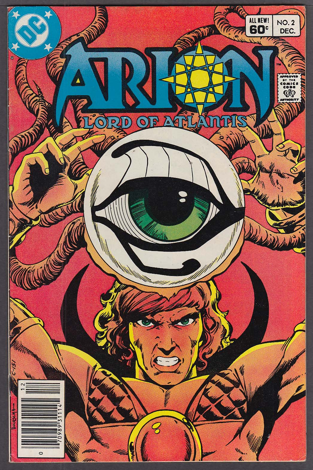 ARION Lord of Atlantis #2 DC comic book 12/1982