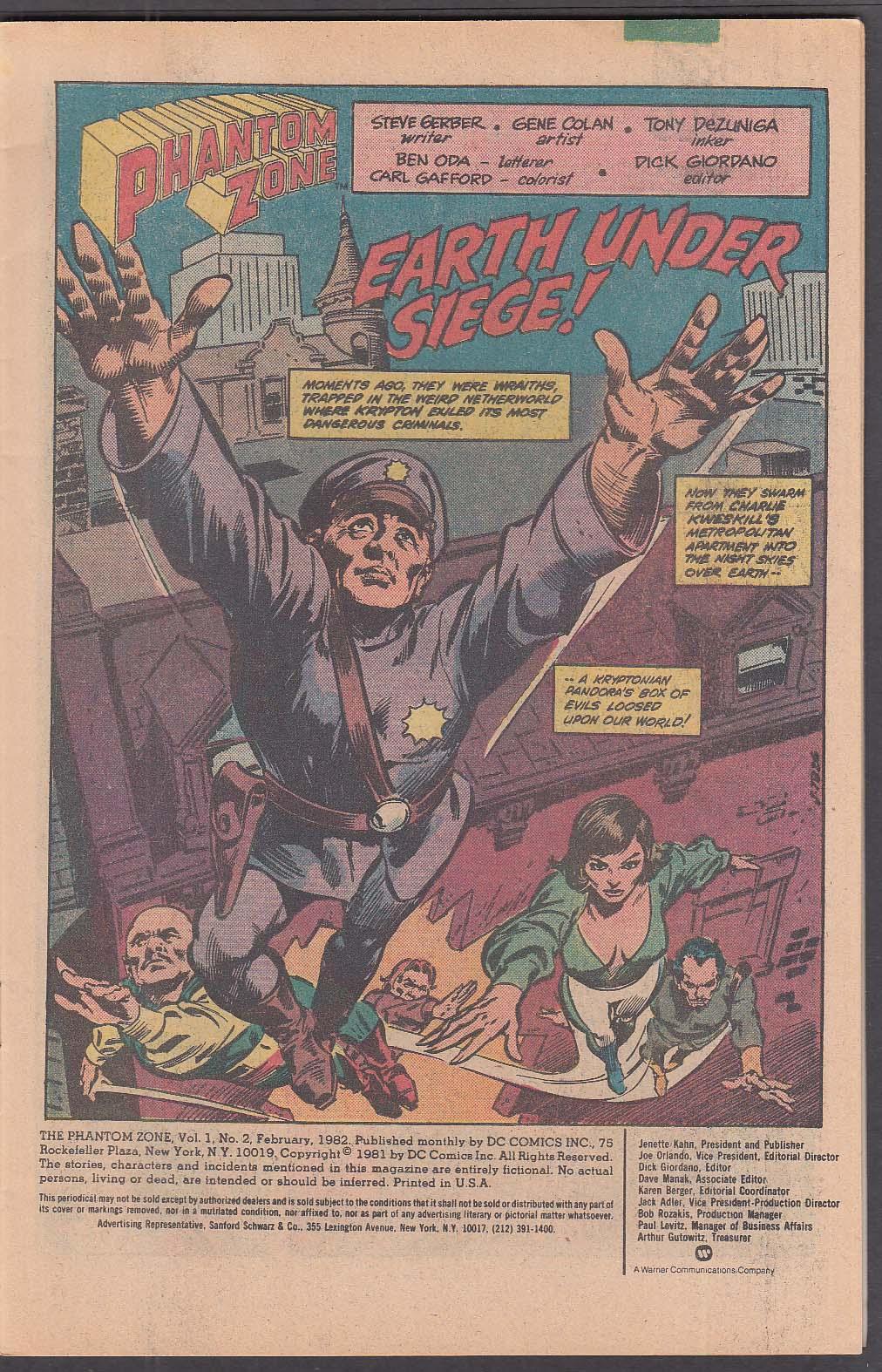 Image for PHANTOM ZONE #2 DC comic book 2 1982 Superman