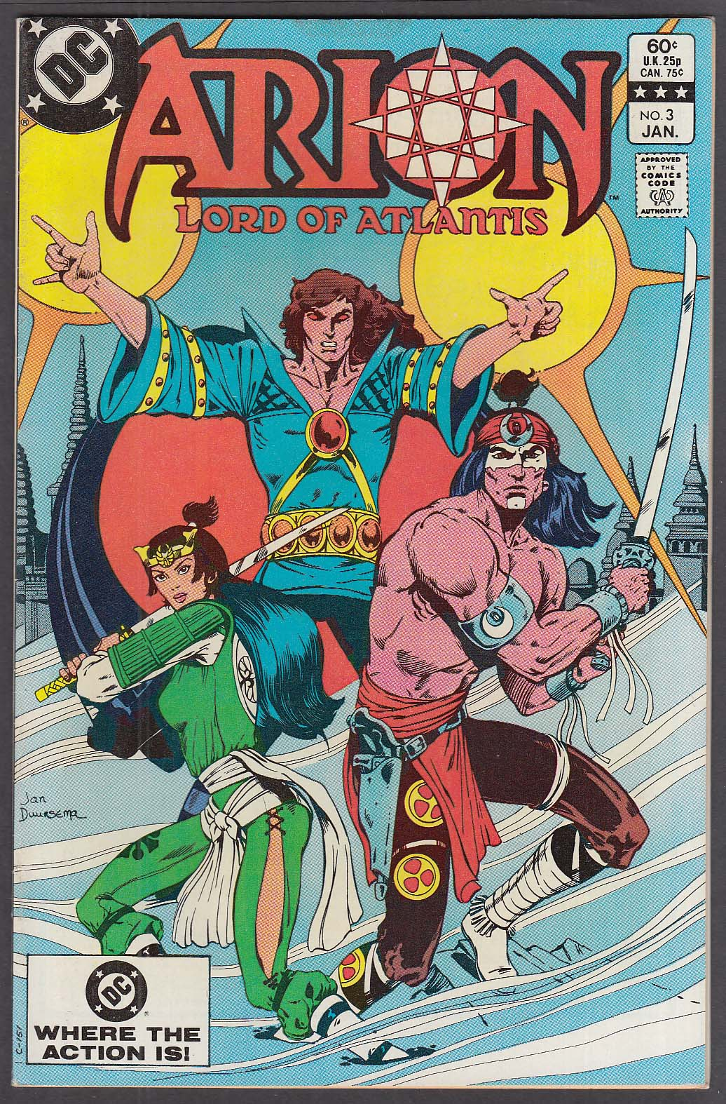 ARION Lord of Atlantis #3 DC comic book 1 1983