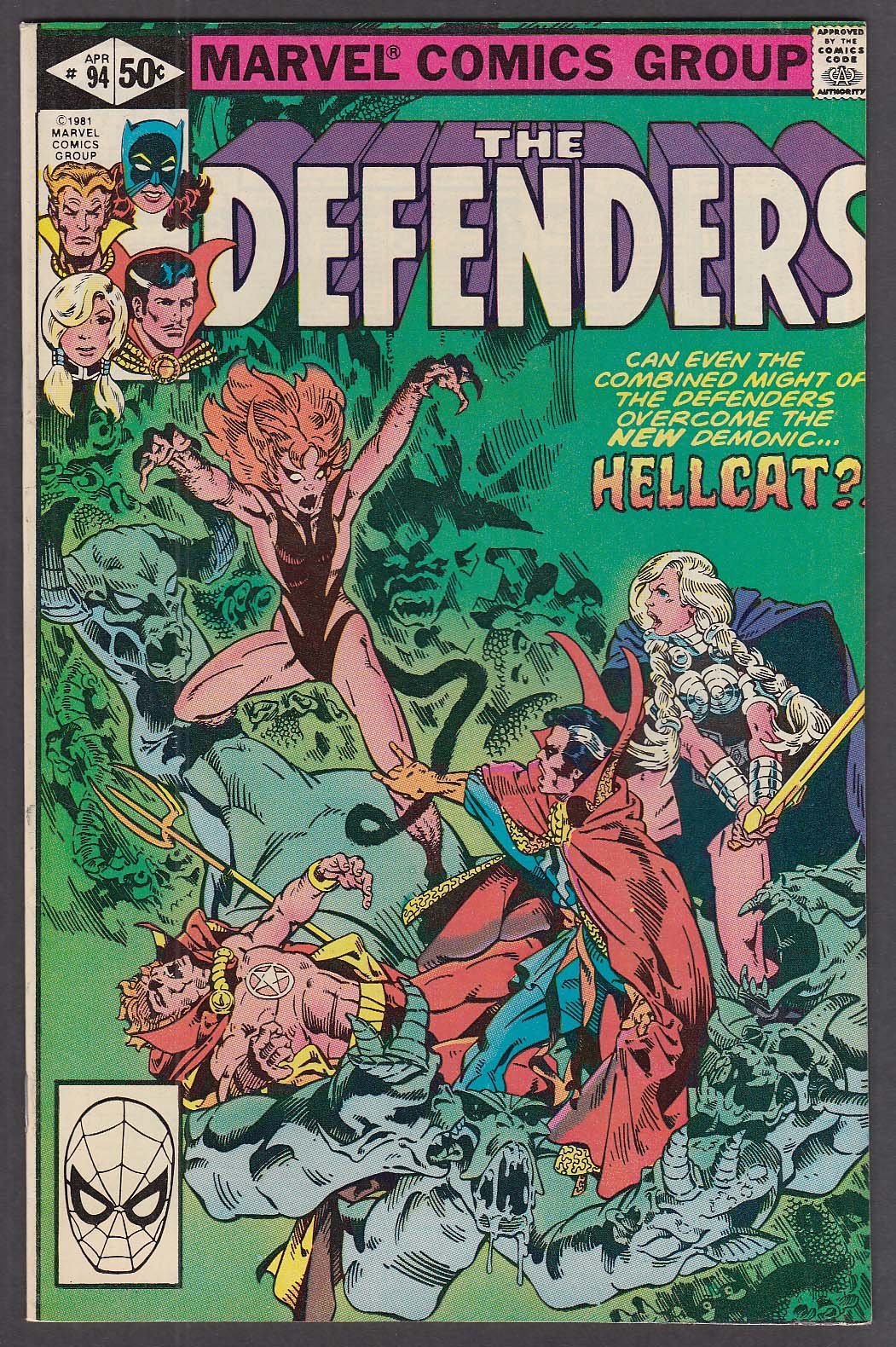 Image for The DEFENDERS #94 Marvel comic book 4 1981