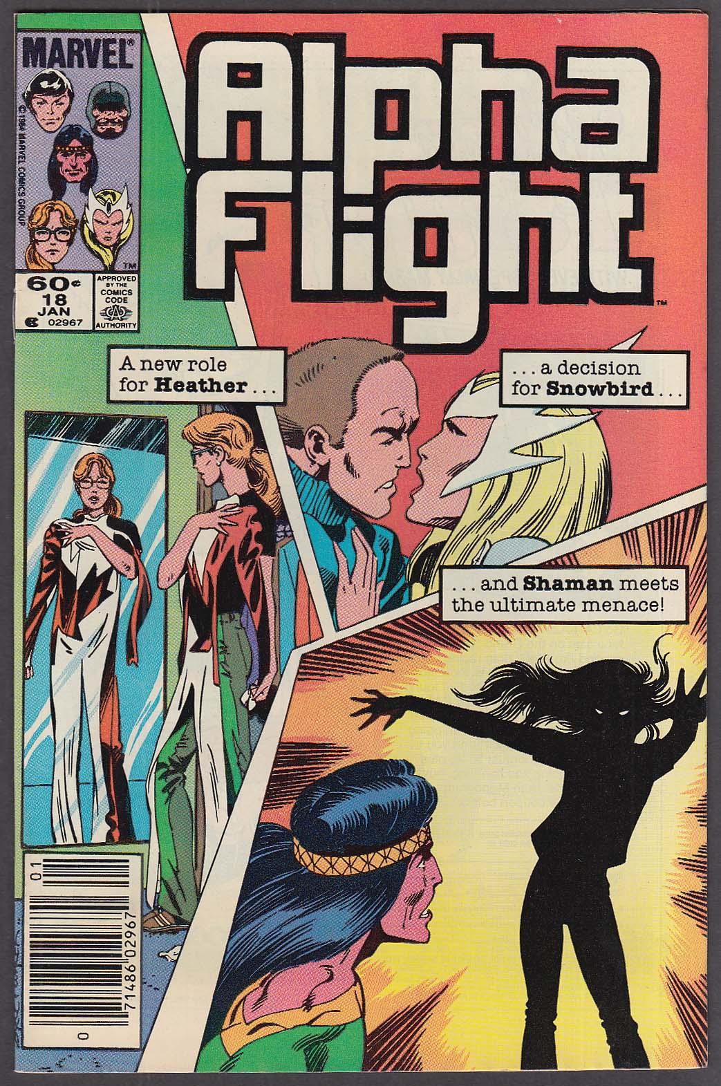 ALPHA FLIGHT #18 Marvel comic book 1 1985