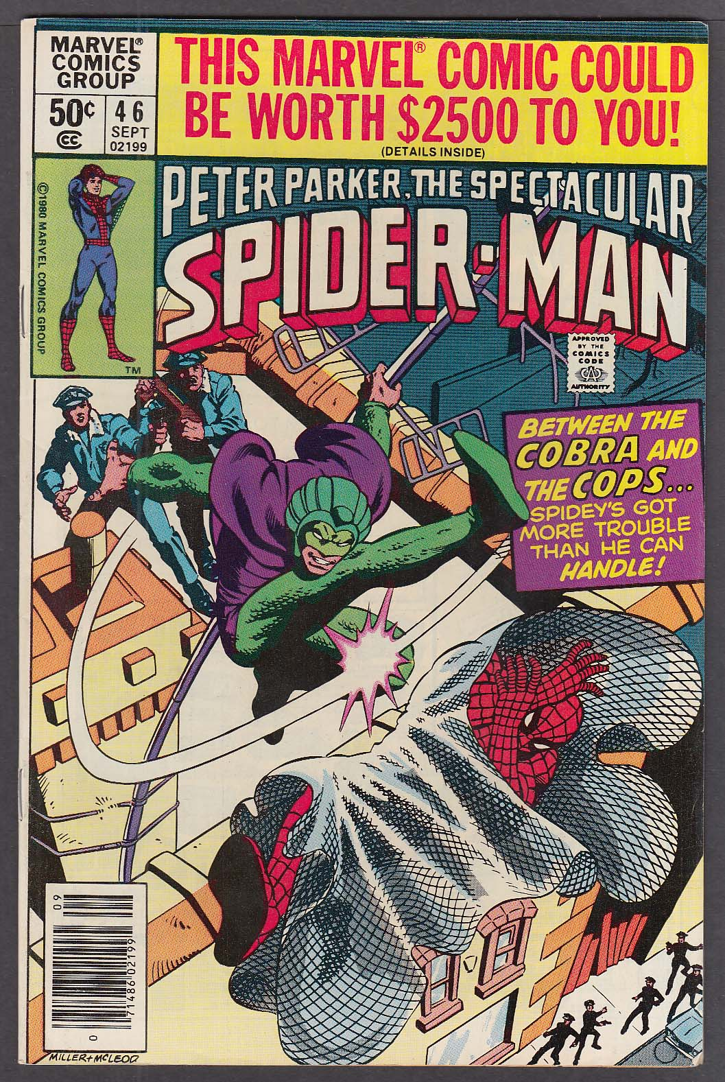 PETER PARKER SPECTACULAR SPIDER-MAN #46 Marvel comic book 9 1980