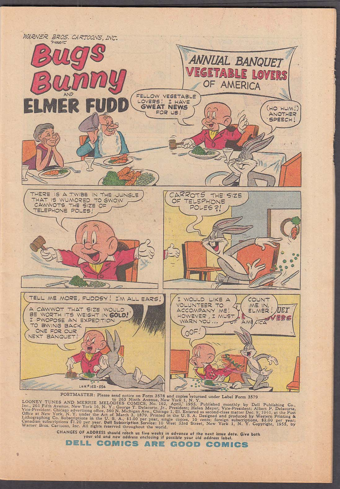 Image for LOONEY TUNES & Merrie Melodies Comics #162 Dell comic book 4/1955