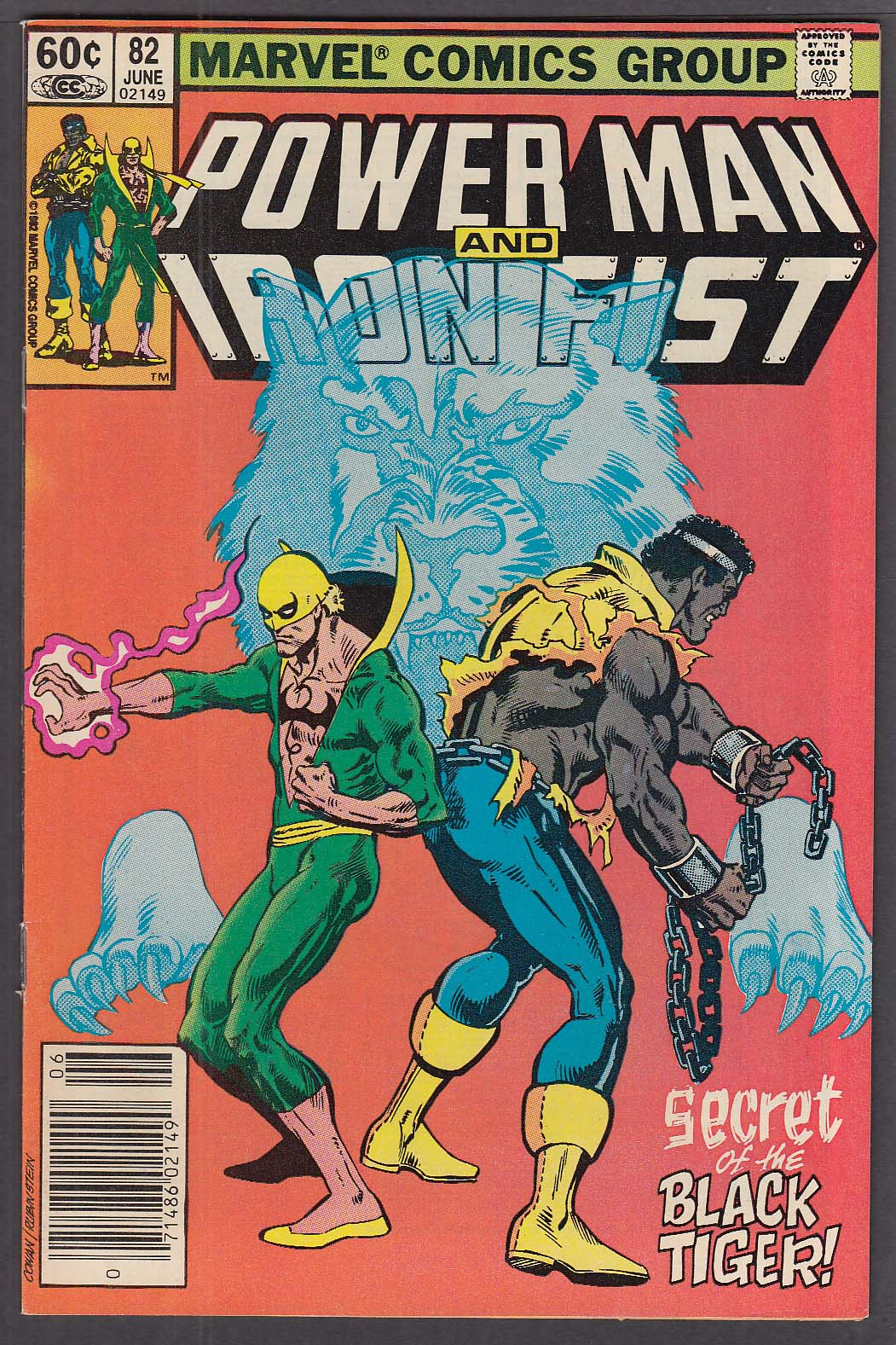 Image for POWER MAN & IRON FIST #82 Marvel comic book 6 1982