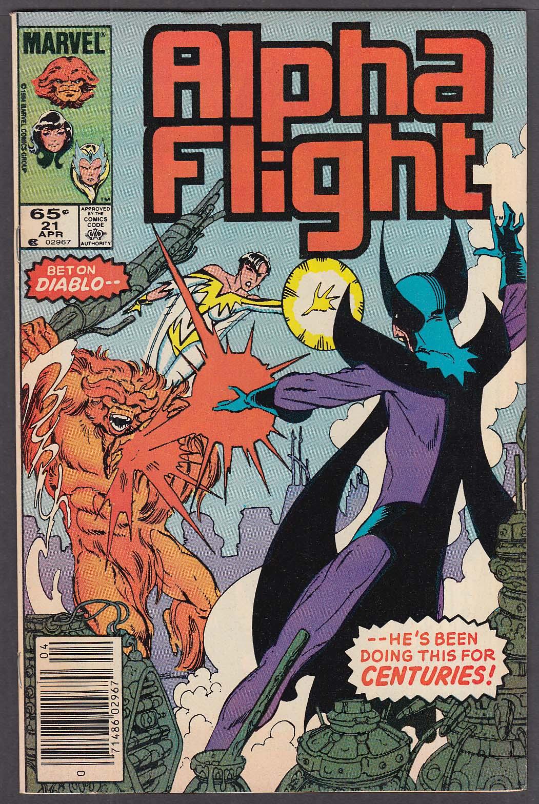 ALPHA FLIGHT #21 Marvel comic book 4/1985