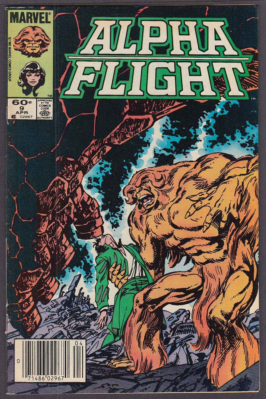 ALPHA FLIGHT #9 Marvel comic book 4 1984