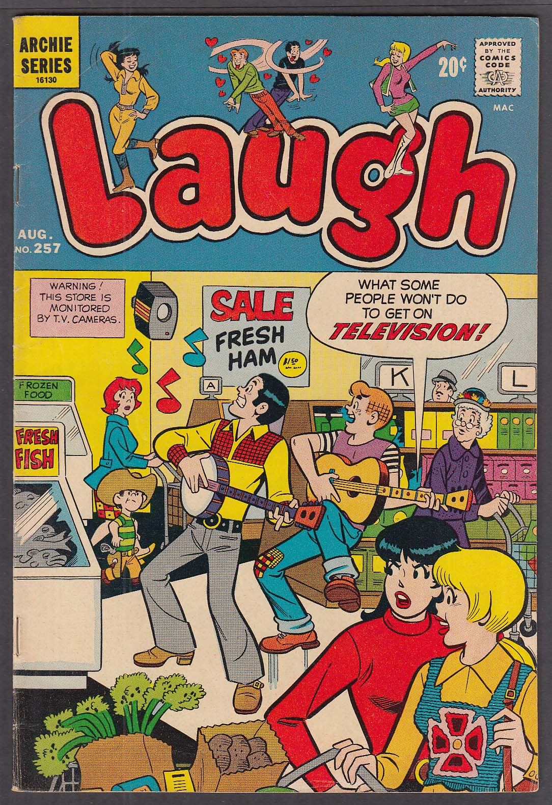 Image for LAUGH #257 Archie & Veronica comic book 8/1972
