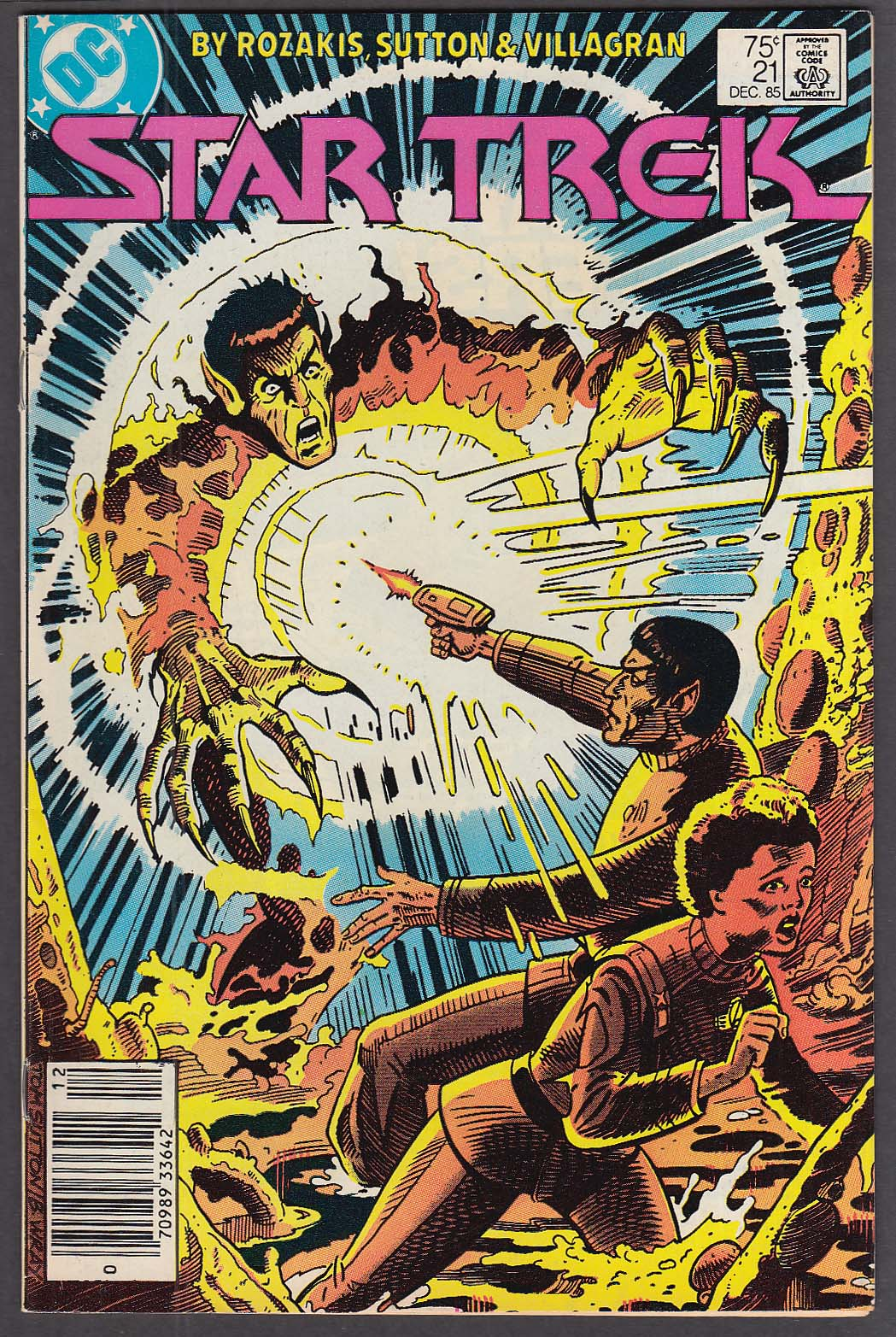 STAR TREK #21 DC comic book 12 1985