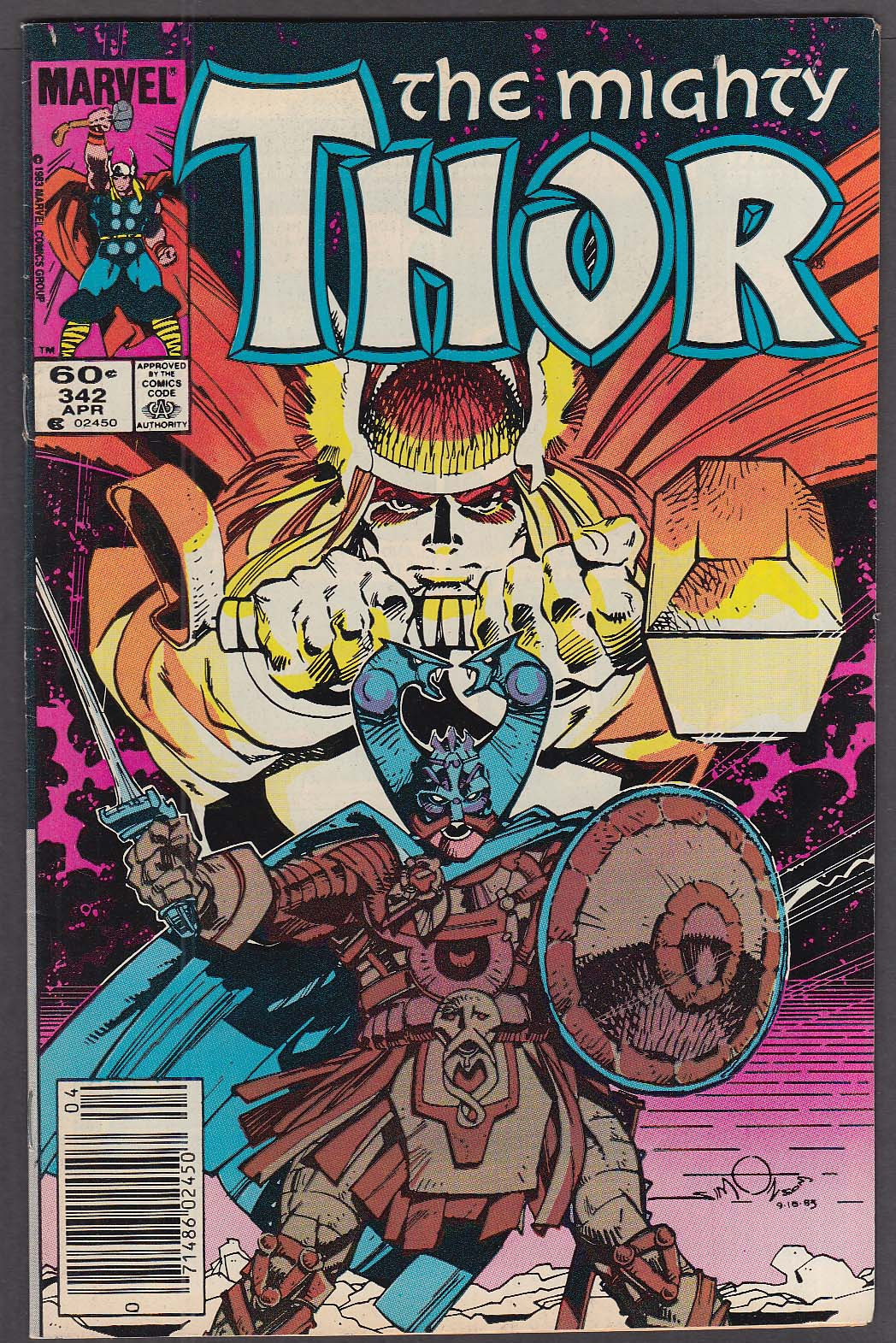 MIGHTY THOR #342 Marvel comic book 4 1984