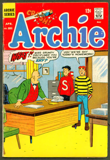 ARCHIE #181 Archie Series comic book 4 1968