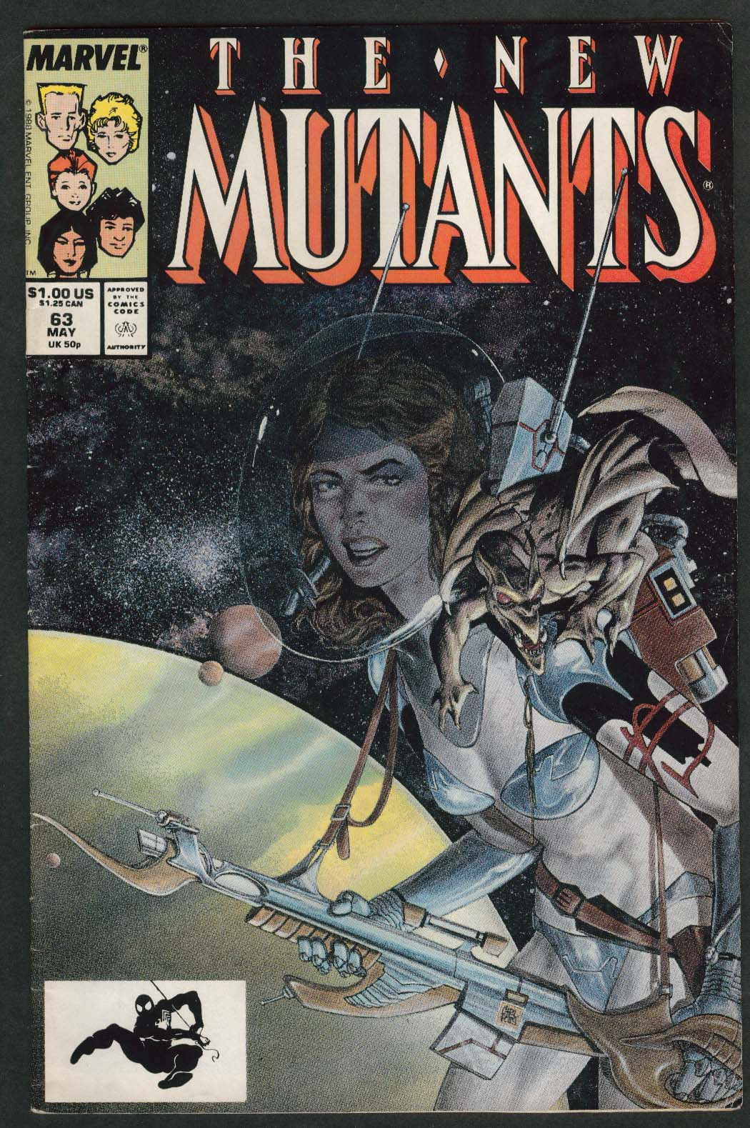 NEW MUTANTS #63 Marvel comic book 5 1988