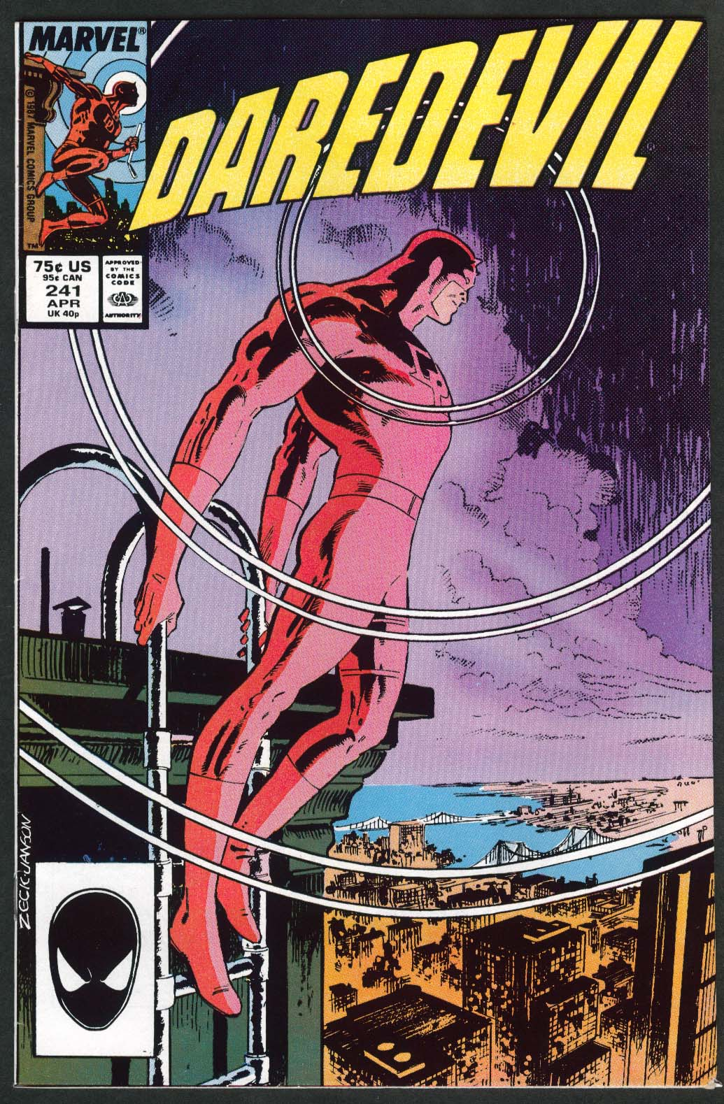 DAREDEVIL #241 Marvel comic book 4 1987 M&M's; Dungeons & Dragons ads
