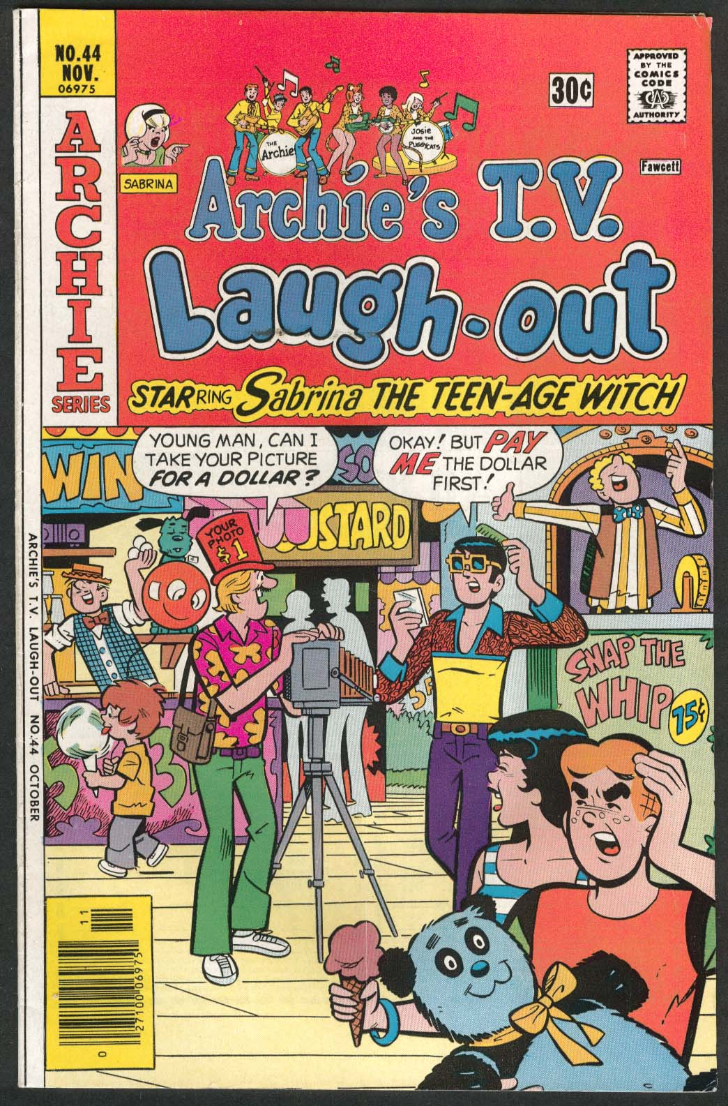ARCHIE'S TV LAUGH-OUT #44 Sabrina the Teen-Age Witch Archie comic book 11 1976