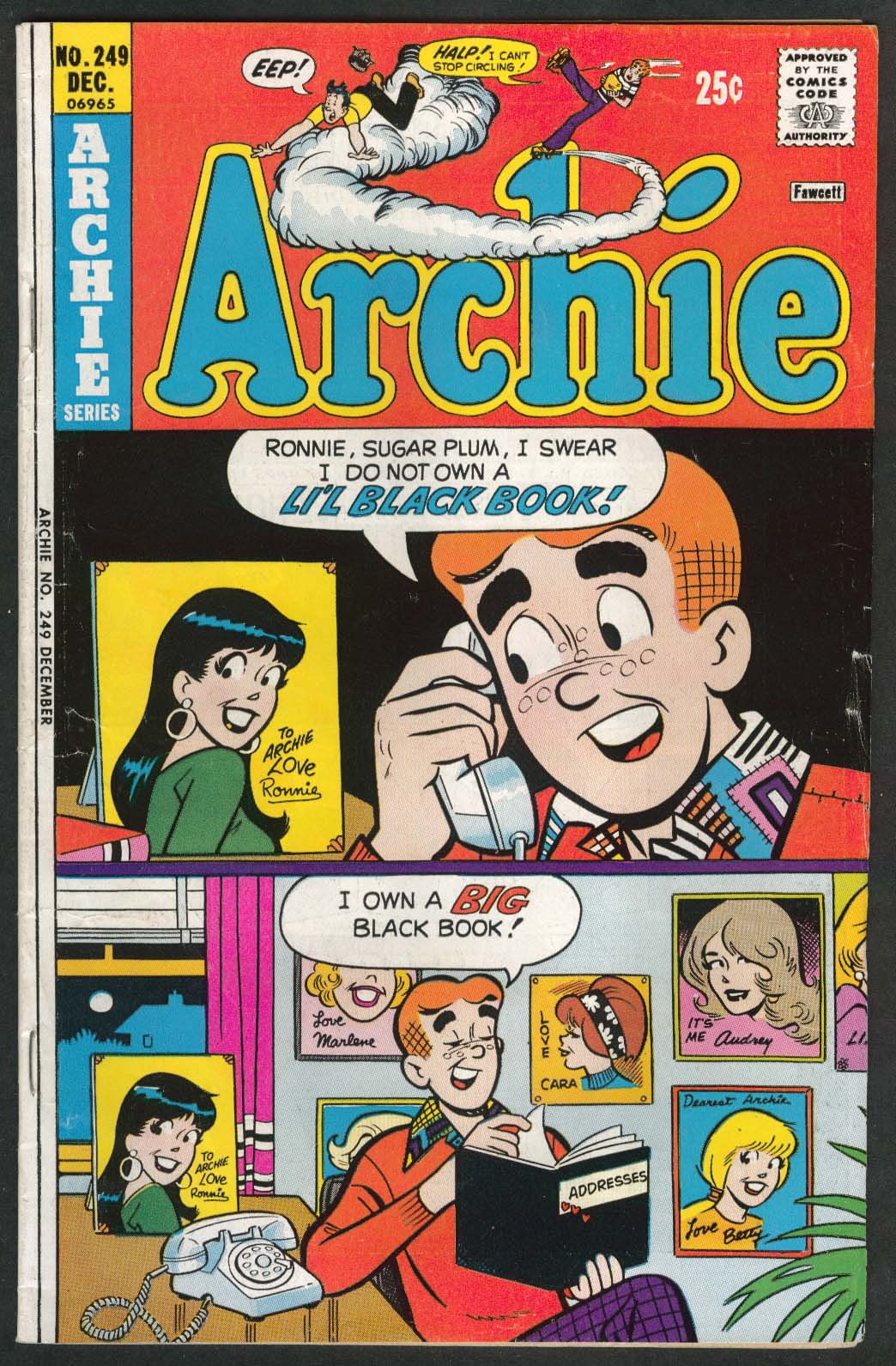 ARCHIE #249 comic book 12 1975