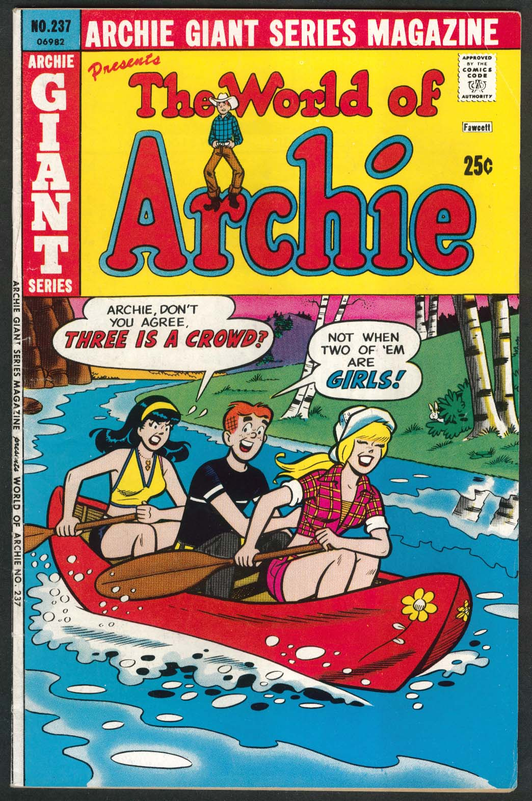 ARCHIE GIANT SERIES MAGAZINE #237 The World of Archie comic book 9 1975