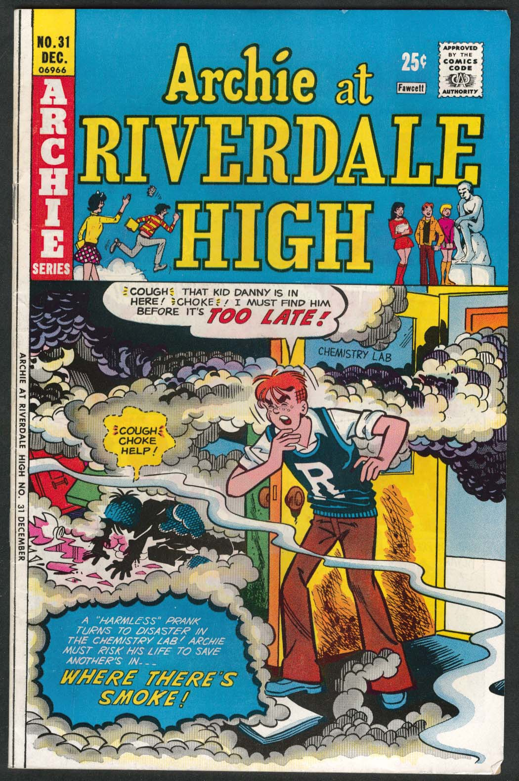 ARCHIE at RIVERDALE HIGH #31 Archie series comic book 12 1975