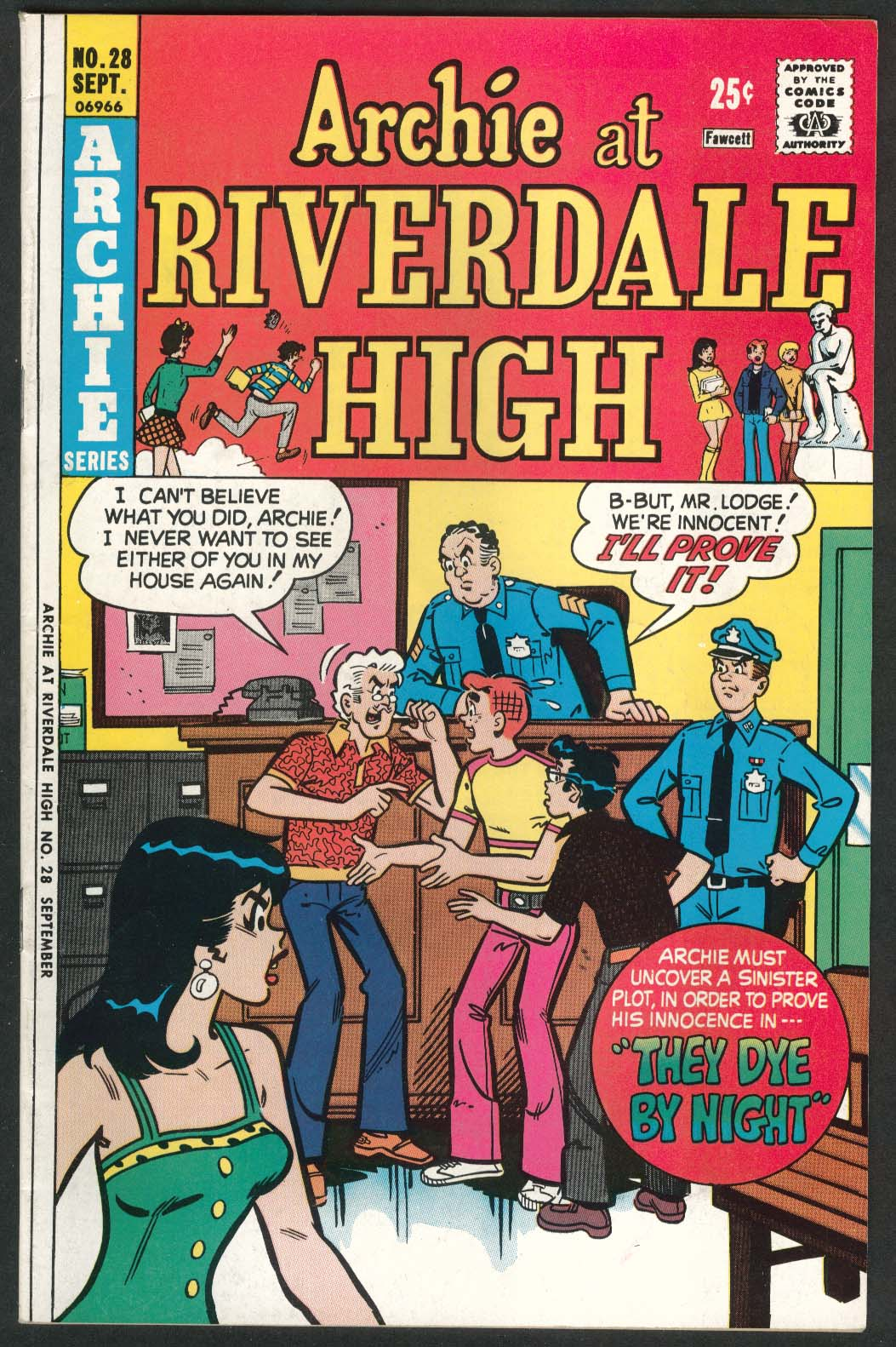 ARCHIE at RIVERDALE HIGH #28 Archie series comic book 9 1975