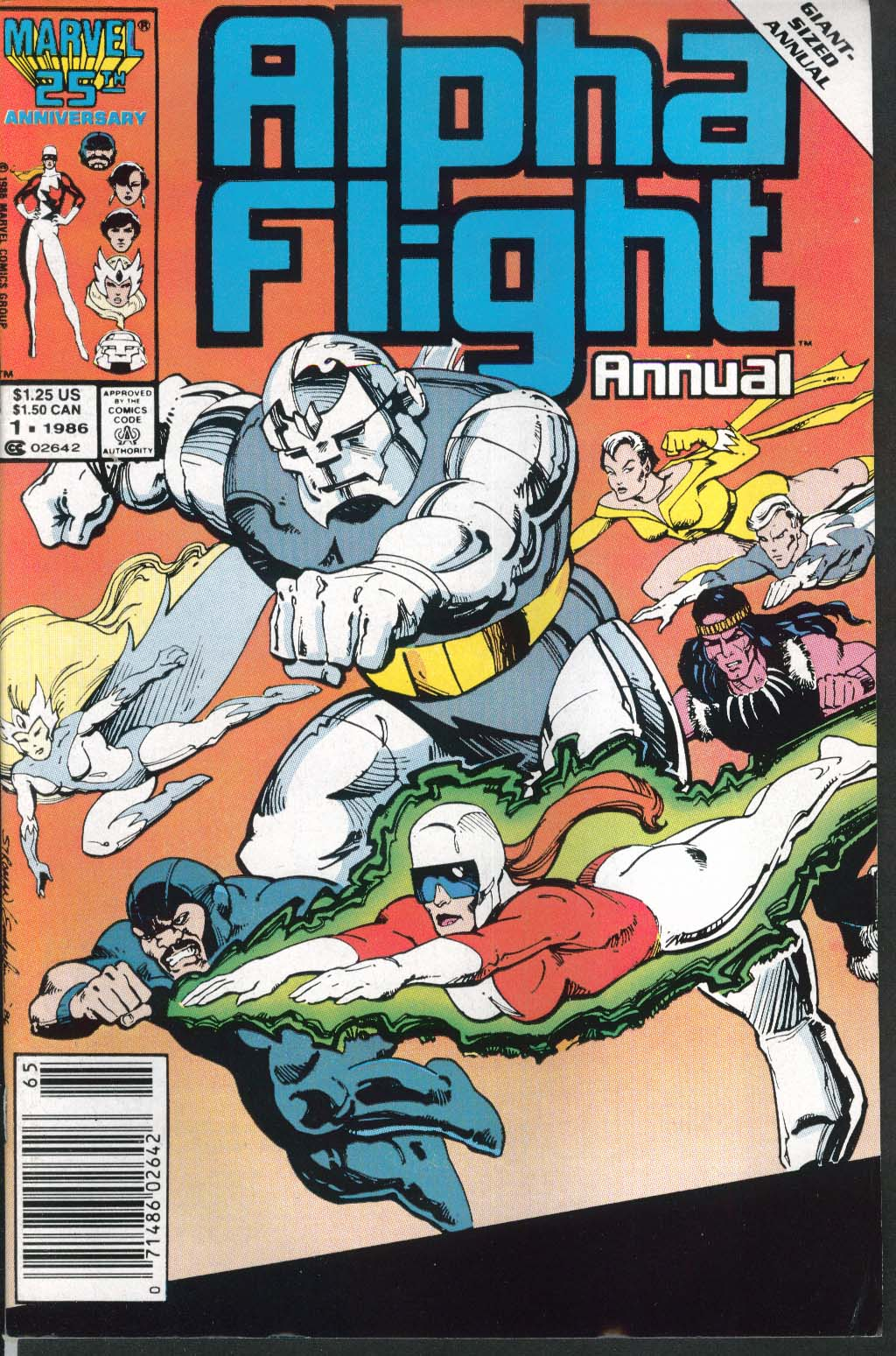 ALPHA FLIGHT ANNUAL #1 Marvel comic book 1986