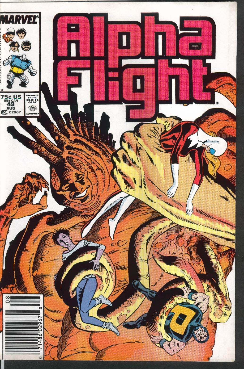 ALPHA FLIGHT #49 Marvel comic book 8 1987