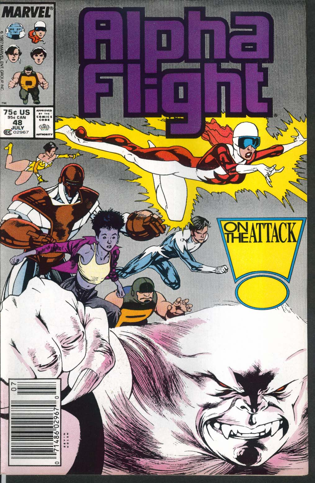 ALPHA FLIGHT #48 Marvel comic book 7 1987