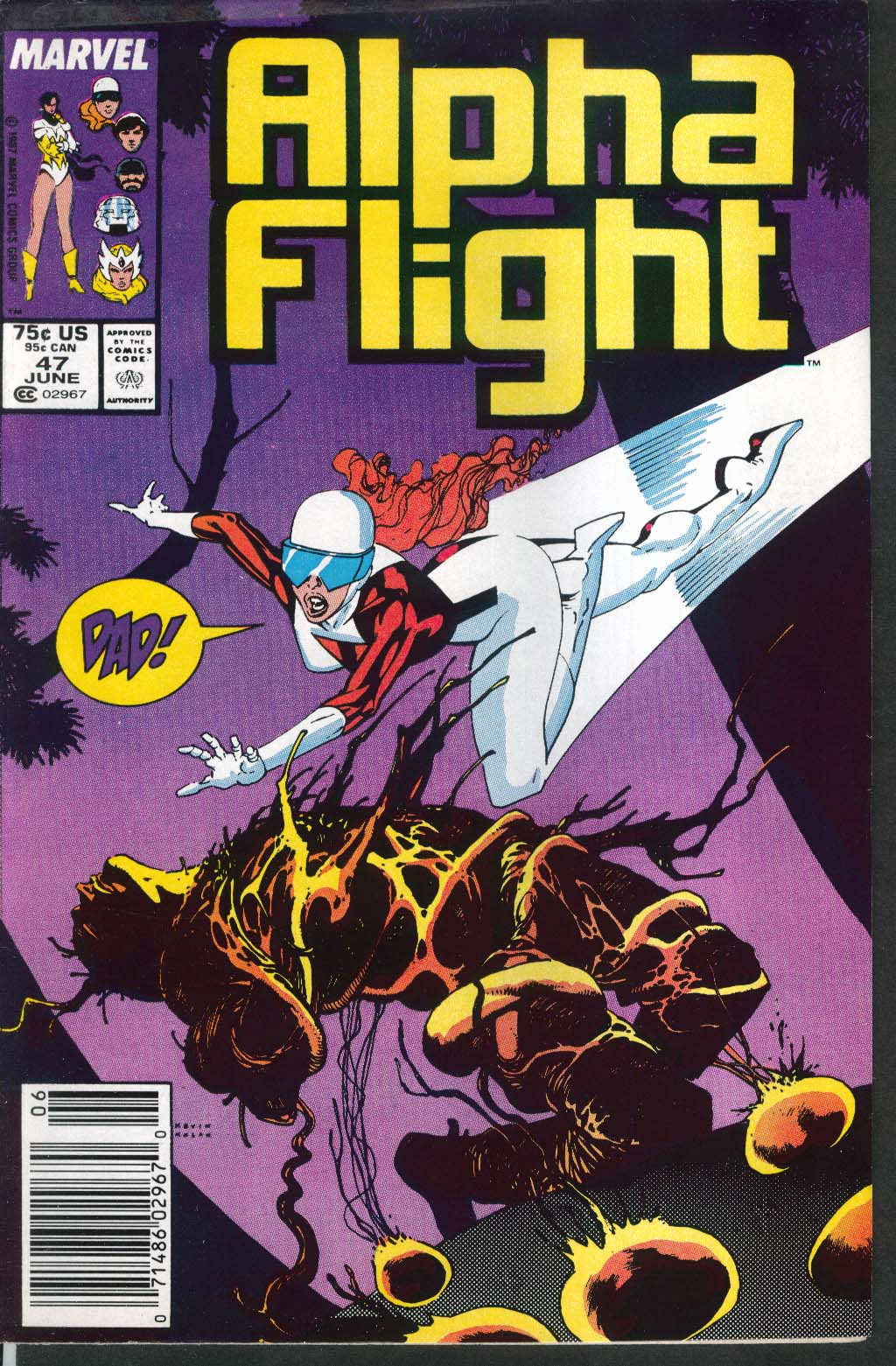 ALPHA FLIGHT #47 Marvel comic book 6 1987