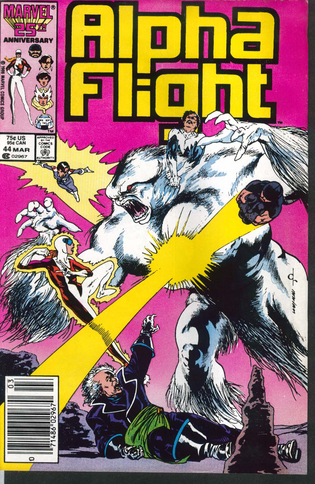 ALPHA FLIGHT #44 Marvel comic book 3 1987