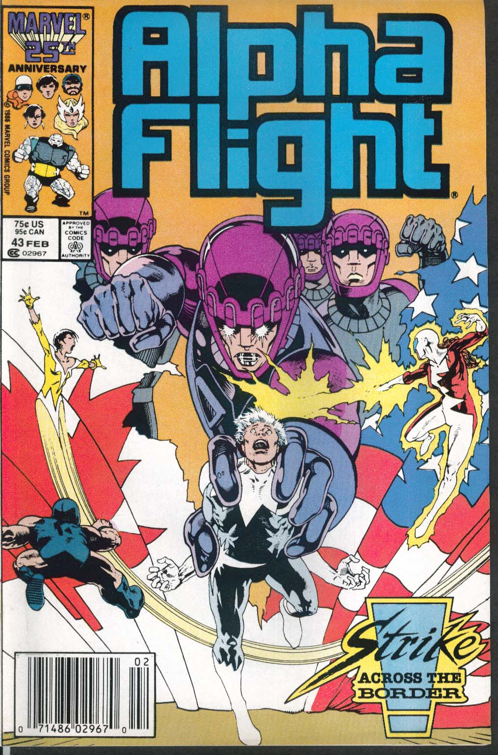 ALPHA FLIGHT #43 Marvel comic book 2 1987