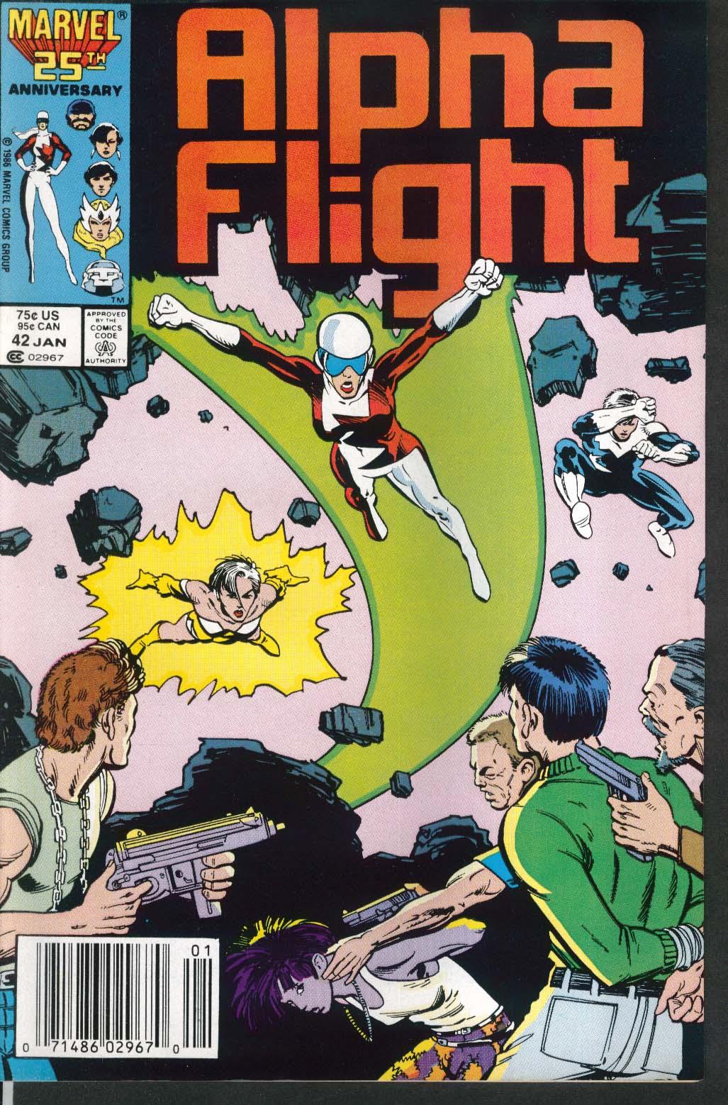 ALPHA FLIGHT #42 Marvel comic book 1 1987